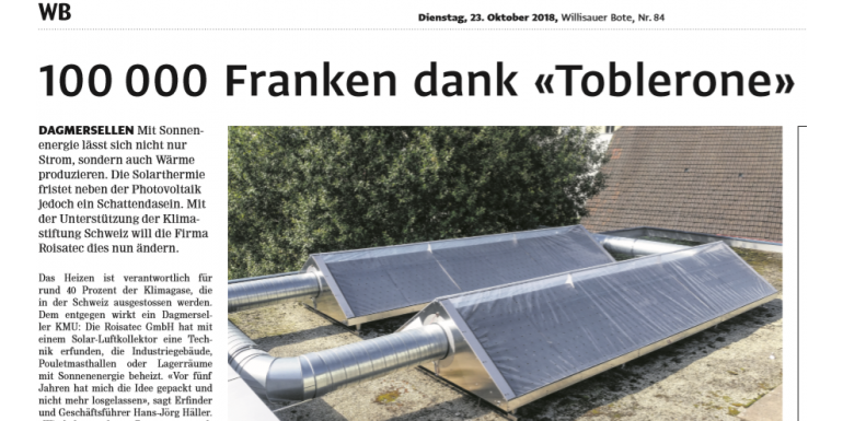 "Solvent Technology im ""Willisauer Bote"""